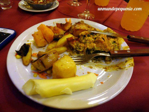 Opciones vegetarianas en La Estancia Ushuaia