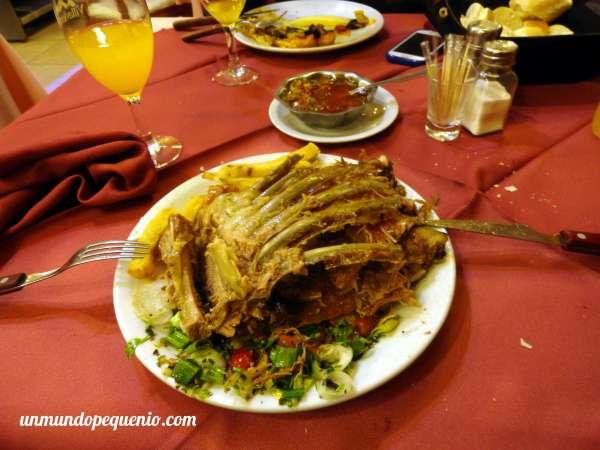 Plato de cordero de La Estancia Ushuaia
