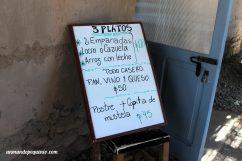Precios restaurante Sala de Payogasta