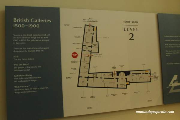 Mapa de las British Galleries