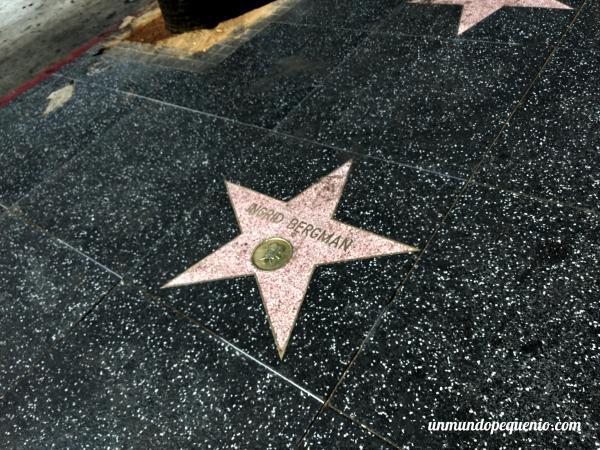 Estrella de la fama de Ingrid Bergman