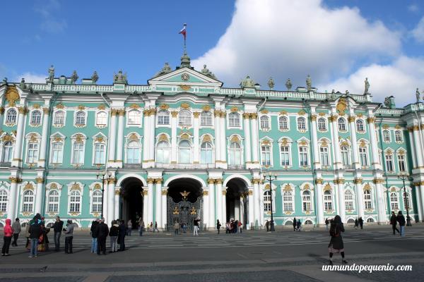El frente del Hermitage