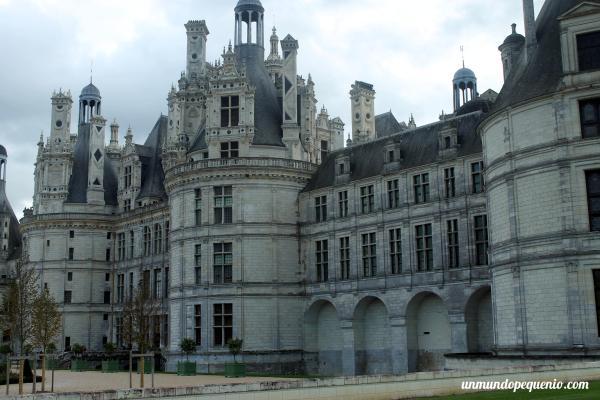 Frente del castillo de Chambord