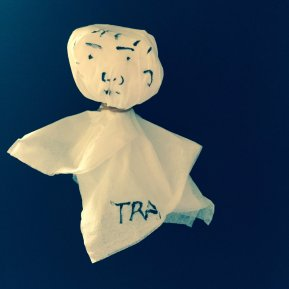 Hiroki made a teru teru bozu to prevent the rain (it had been raining for pretty much the past two weeks)