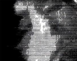 digital silkscreen on brushed alu 100x100 cm