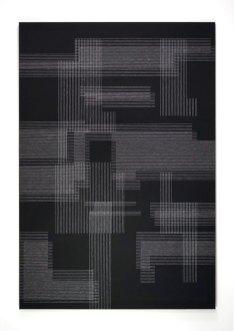 black series 7 #1, 190x130 cm