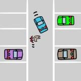 右方向変換(右バック)と外輪差