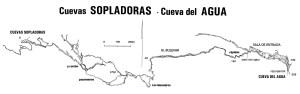 Mapa de la Travesía de la Cueva Sopladoras-Cueva del Agua