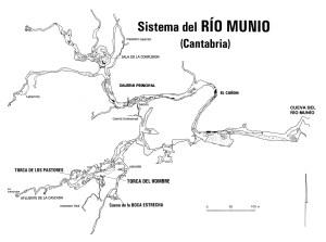 Mapa de la Cueva del Río Munío