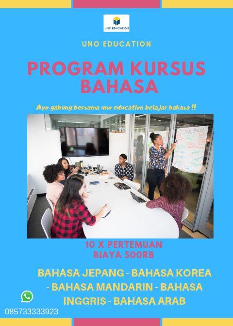 promo kursus bahasa, promo les bahasa inggris, promo les bahasa arab, promo les bahasa korea, promo les bahasa jepang, promo les bahasa mandarin