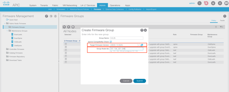 Create Firmware Group