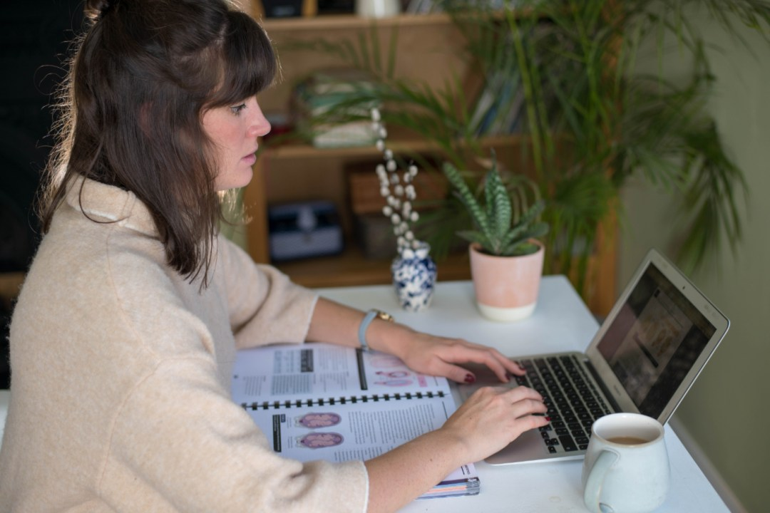 Unofficial Guide to Obstetrics And Gynaecology - Woman Sat At Laptop