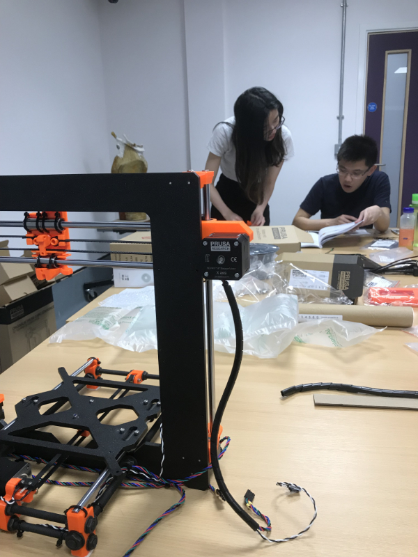 Medical Education Award - Colleagues working to build the Prusa i3 Mk2