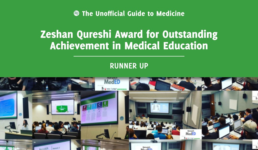 Zeshan Qureshi Award for Outstanding Achievement in Medical Education Runner Up: Tanya Ta