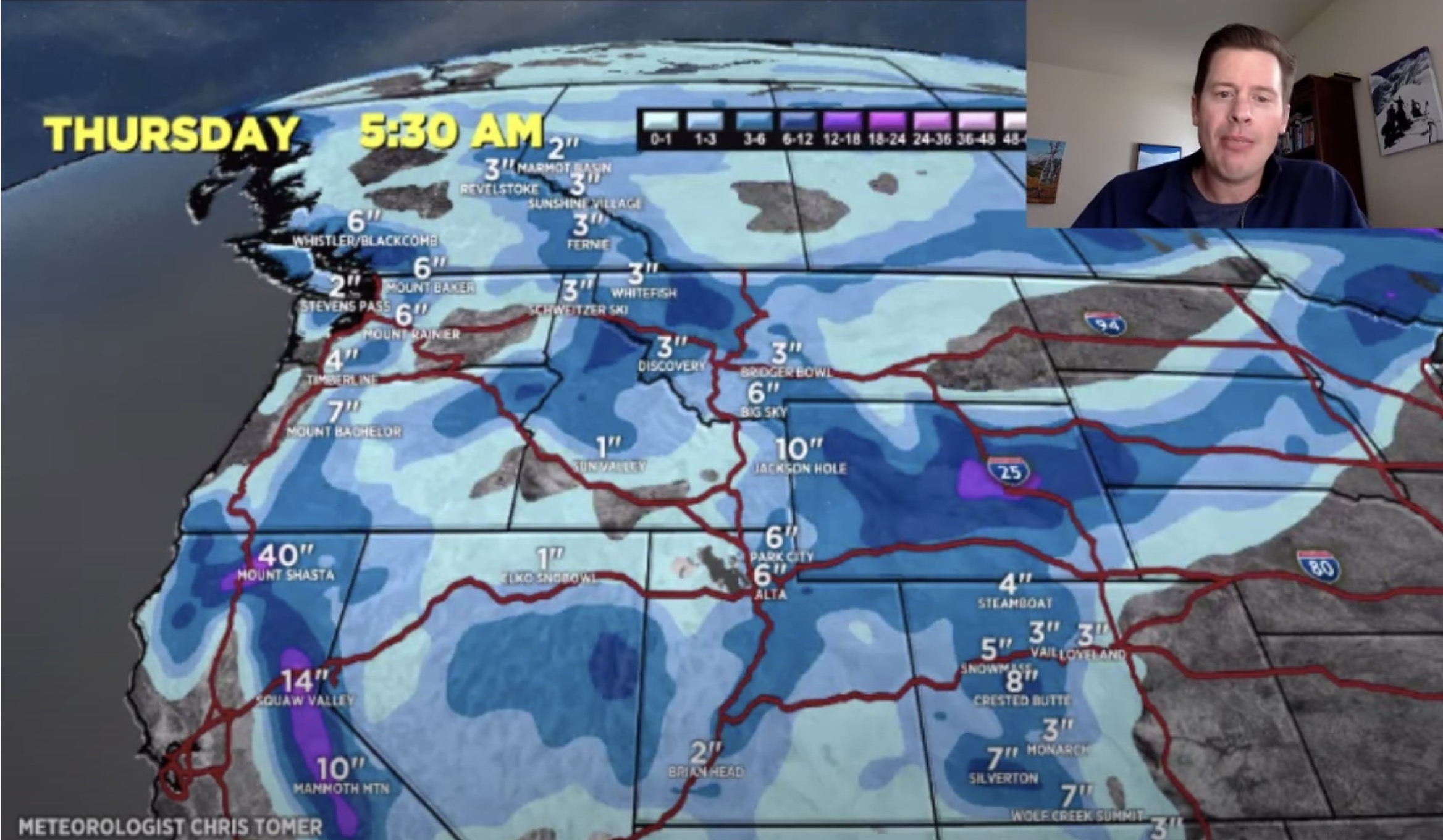 Mountain Weather Update 3/7, Meteorologist Chris Tomer