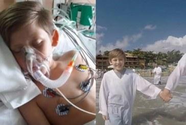 Después de una lesión cerebral, un niño que fue declarado 'muerto' vuelve a la vida y se bautiza