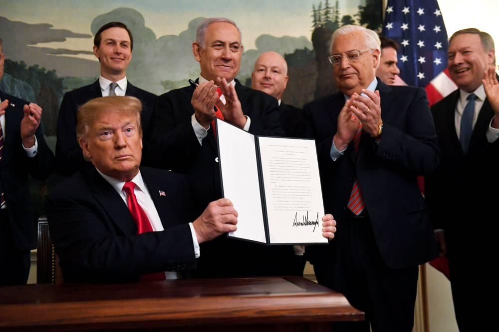 Paso histórico: Donald Trump reconoce soberanía de Israel en los Altos del Golán