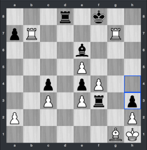 Kramnik-VachierLagrave dopo 32. ... h3