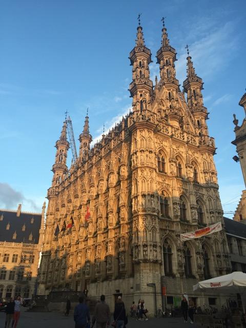 Leuven nel sole del tramonto
