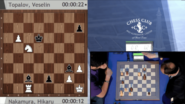 Topalov promoting to a pawn