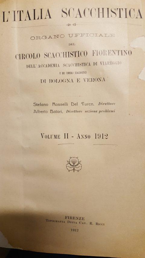 Italia Scacchistica 1912