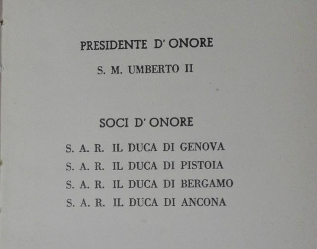 Elenco Soci d'Onore 1952