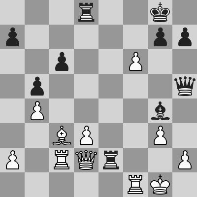 Anand-Caruana dopo 22. ... Txe2