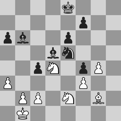 Dominguez-Kasparov dopo 33. Ag2