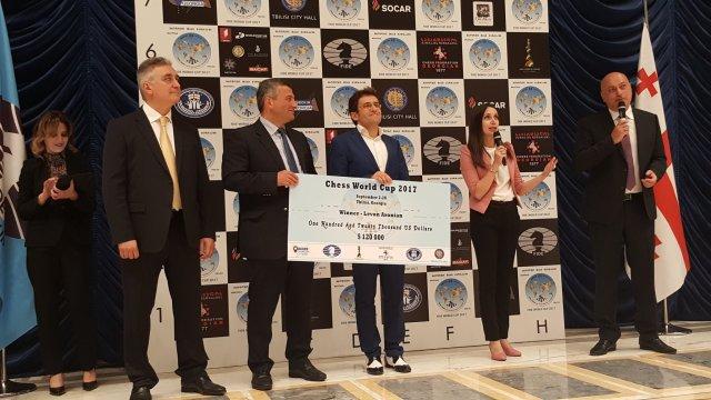 FIDE World CUP 2017 - Aronian premiato