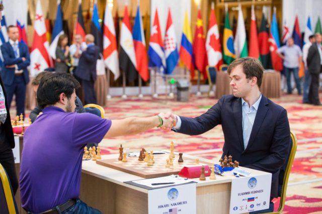 FIDE World CUP 2017 - R3 Nakamura resigns with Fedoseev (Emelianova)