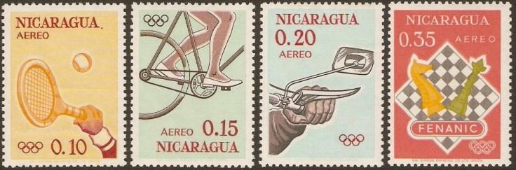 1973_NICARAGUA_4 CON SCACCHI_NIC1963-1485-1497