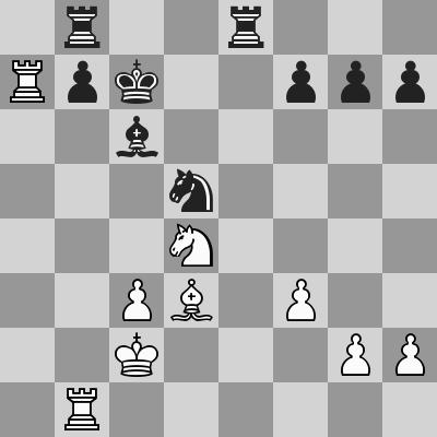 Carlsen-Inarkiev dopo 24. ... Cd5
