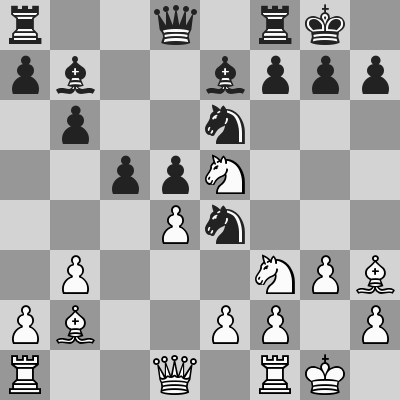 Jobava-Ponomariov, Blitz 3° turno, dopo 13. ... Ce4
