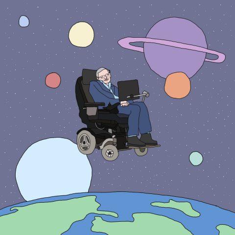 Stephen Hawking seen by @getbentsaggy
