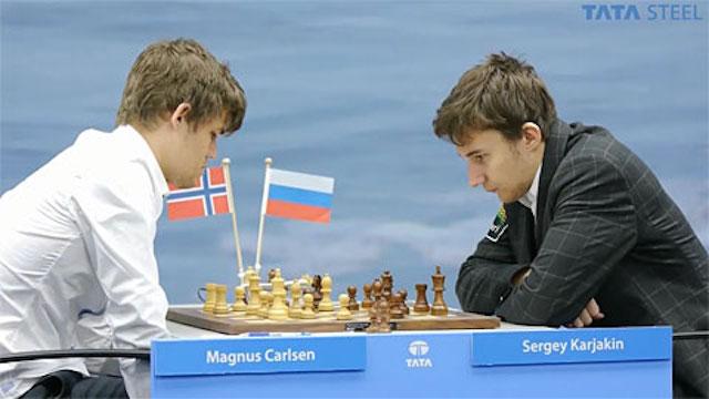 Tata2013 - R8 Carlsen-Karjakin