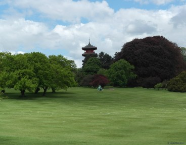 Vista de la torre japonesa