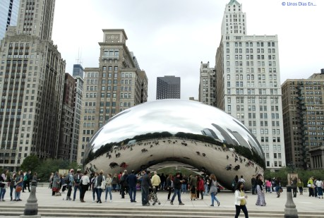 "Cloud Gate, better known as ""The Bean"""
