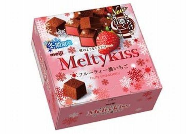 明治「メルティーキッス フルーティー濃いちご」2016カロリーは?味の感想は?カロリーは?