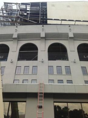 Old LSU dorms in Tiger Stadium