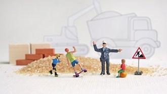 Kindern und gebrechlichen Personen ist das Betreten der Baustelle grundsätzlich untersagt.