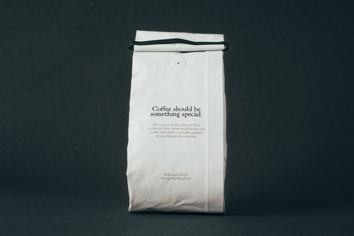 Back of Ceremony Coffee bag