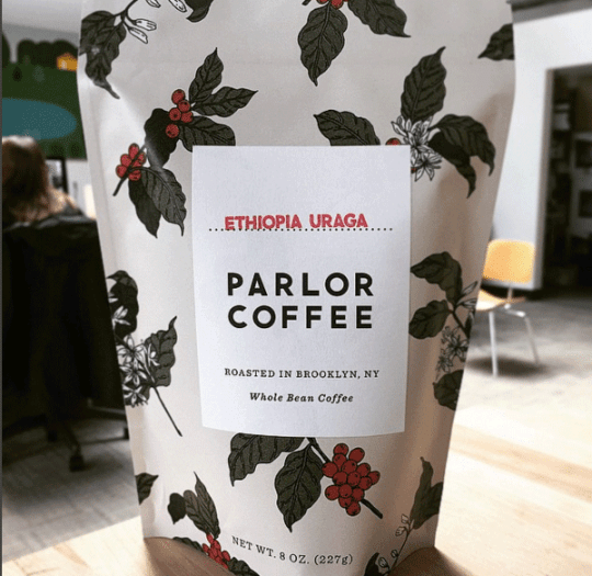 Parlor Coffee's elegant packaging design.