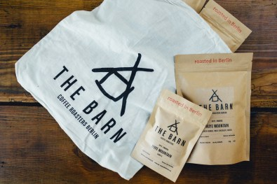 The Barn Coffee Roasters Berlin Huye Mountain Samples in Small and Large