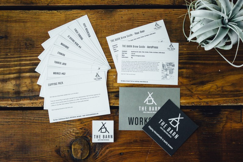 The Barn Coffee Roasters Berlin Flavor Cards With Descriptions