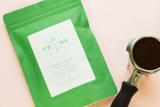 Trunk Coffee's packaging design.