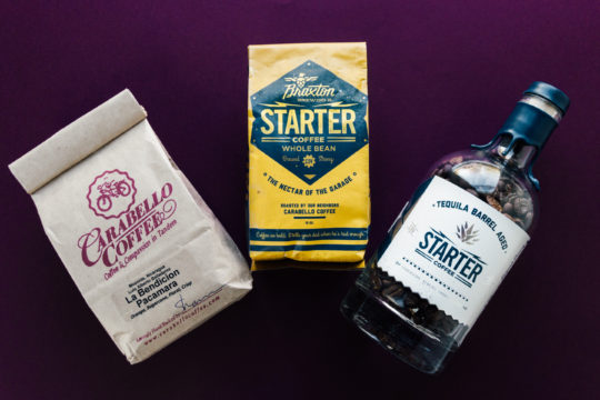 Carabello Coffee with Braxton Brewing and Carabello's collab Starter Coffee and Tequila Barrel Aged Starter Coffee