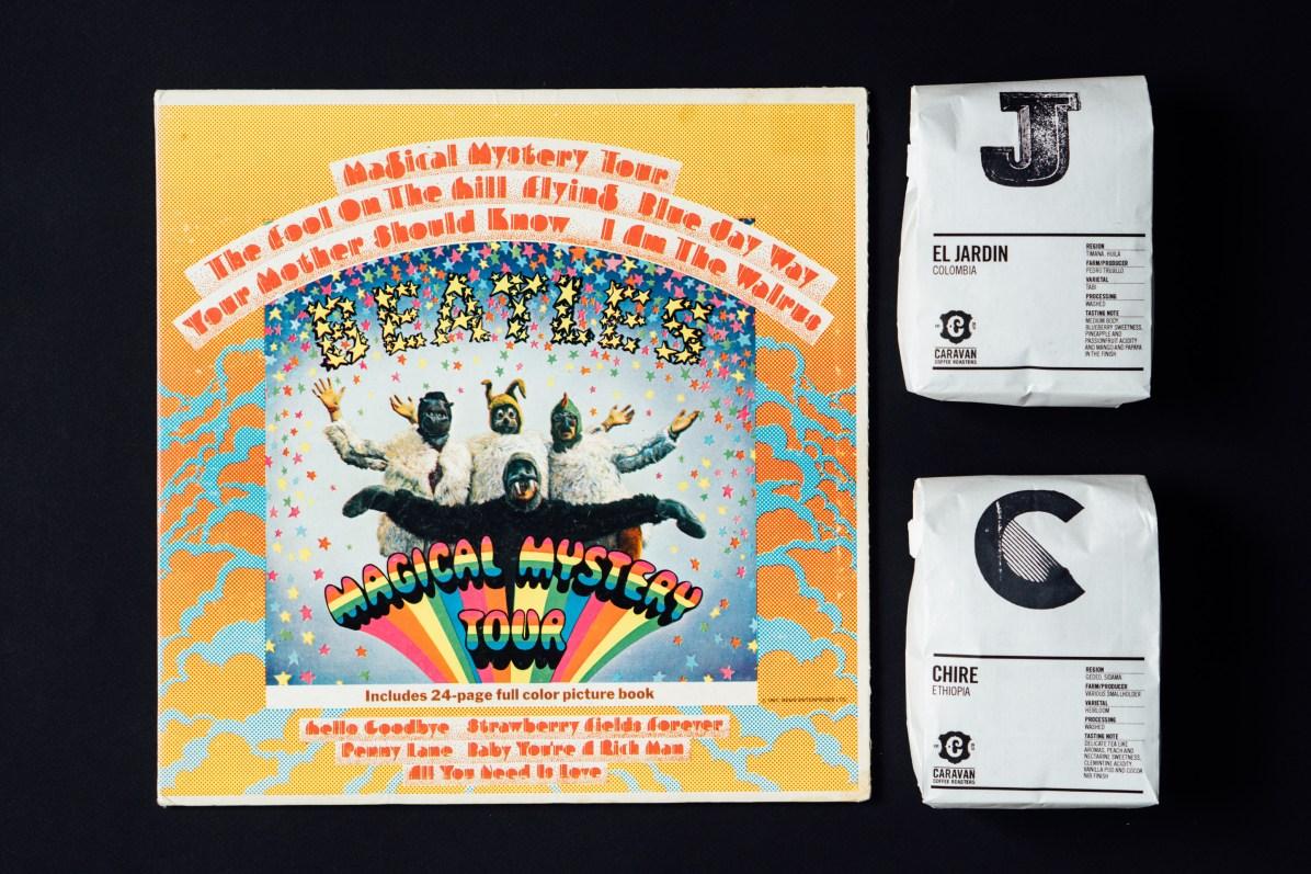 Beatles Album and Caravan's Coffees
