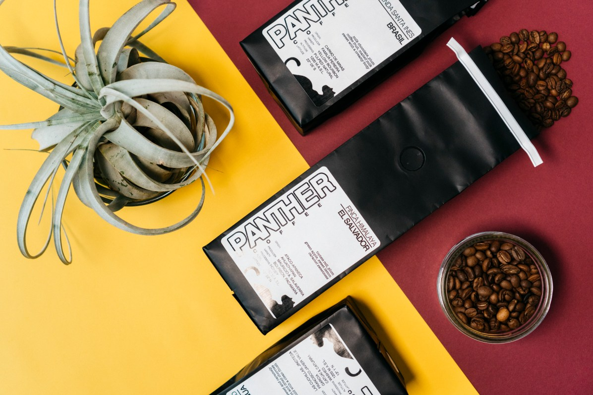 A few Panther coffee bags
