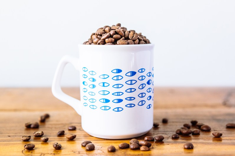 George Howell mug and beans