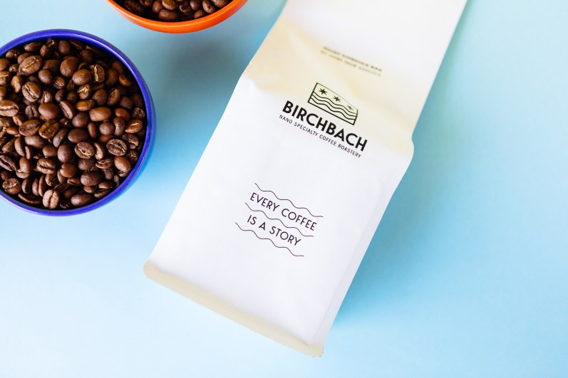 Every Coffee is a Story note on Birchbach bag